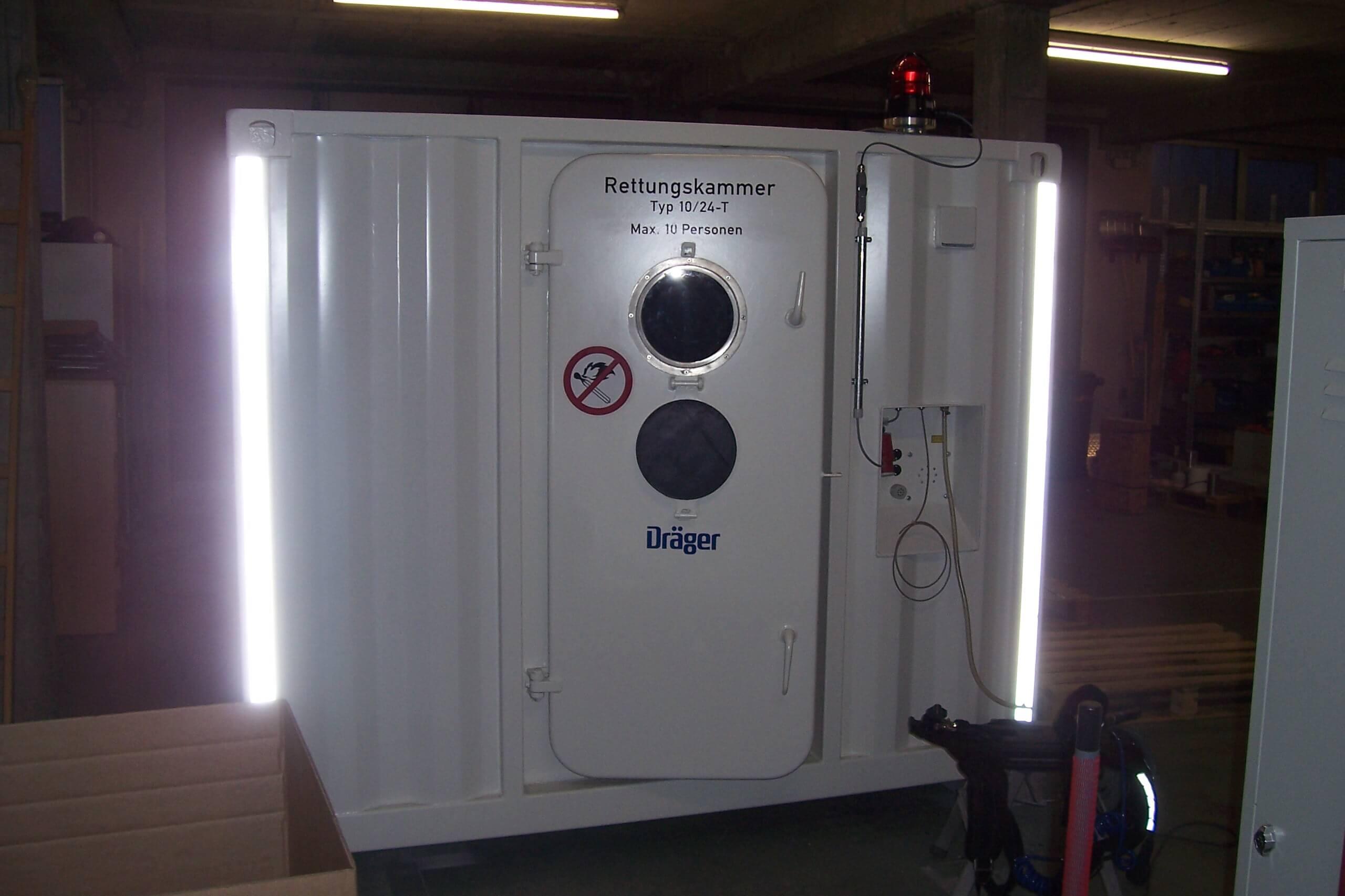Rettungskammer-Container