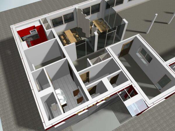 Besprechnung, Sanitär, Teeküche, Serverraum und Eingang
